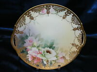 """Vintage Porcelain 10"""" Plate Nippon Morimura Brothers #47 Hand Painted"""