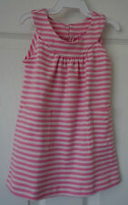 NWT Bella Bliss Scoop Neck Pink Stripe Pima Cotton Knit Dress  ~ Girl's 12 Month