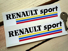 "RENAULT sport Autocollants Voiture Paire 6 ""F1 GP Course Rallye MOTORSPORT CLIO ALPINE TURBO"