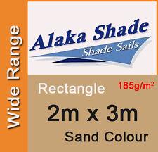 New Shade Sail - Sand Colour Rectangle 2m x 3m, 2x3m, 2 x 3m, 2 by 3m, 2mx3m