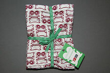 Green Cotton Newborn Baby 2er mulltücher Diaper pañal dotta Frog 70 x 70 cm