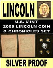 Lincoln Chronicles Set 2009 Silver Dollar Set Gettysburg Address & Sleeve Rare