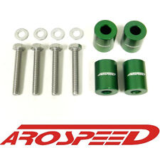 AROSPEED UNIVERSAL GREEN CNC BILLET 6MM HOOD SPACER RISER VENT KIT C