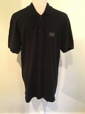 D&G Dolce & Gabbana Black  Short Sleeve Polo Shirt Size 52 L/XL
