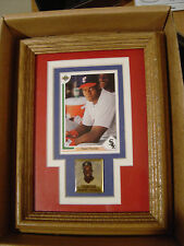 1991 UD Frank Thomas 6x8 framed card Chicago White Sox