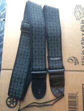Dunlop D-38 Guitar Strap Black & Gray
