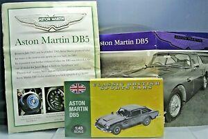 MINT Aston Martin DB5 Sealed Box Atlas Classic British Sports Cars with Booklet