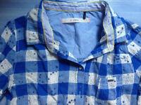 CHEMISE IKKS TBE 13 14 ANS S PRINTEMPS TUNIQUE blouse carreaux Vintage