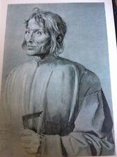 J1-2 Book Plate 6.5 X 8.5 Inches Albert Durer Portrait Of An Architect