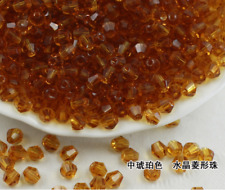 wholesale 4mm120/200pcs pcs bicone crystal glass loose spacer Beads DIY jewelry