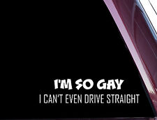 I'm So Gay... - FUNNY - DIE CUT Decal / Sticker NOT PRINTED (A-21)