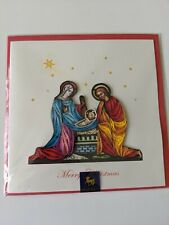 Papyrus Niquead Christmas Card, Joseph, Mary, Baby Jesus, Religious, Holy, Fancy