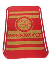 "Vintage San Marcos San Francisco 49ers 52""x 76"" Heavy Blanket NFL Football Rare"