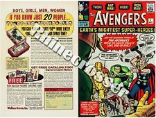 Avengers #1 Beautiful Marvel Repro Cover Only w/Original Ads 1st Avengers Key