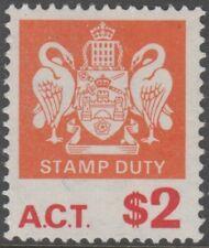Stamp 1969 Australian Capital Territory $2 stamp duty with watermark, MUH RARE