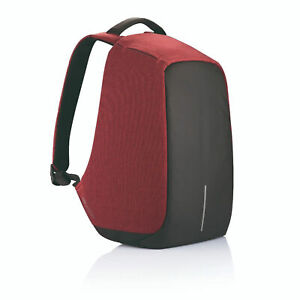 XD Design Bobby Original Anti Theft Travel Laptop Backpack with USB Port, Red