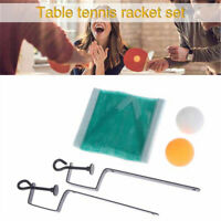 Table Tennis Chinese Ping Pong Sport Toys Suit 2 Balls + Net with Bracket Pole