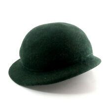 Vintage Women's Hat 22 Henry Pollak Co. New York Green 100% Wool Glenover Phipps