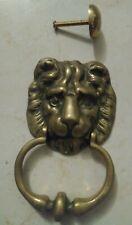 VINTAGE BRASS DOOR KNOCKERS LION HEAD NEVER HAS BEEN USE NEW RARE