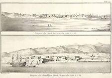 SUES / ET-TOR - GESAMTANSICHT - Niebuhr - Kupferstich 1774