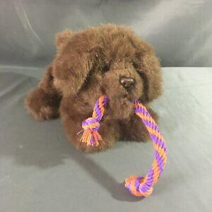 FurReal Friends Tuggin' Pup stuffed Plush Brown Growling Dog Rope