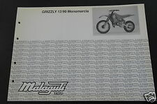 Catalogo Ricambi ORIGINALE Telaio Motore MALAGUTI GRIZZLY 12 90 MONOMARCIA