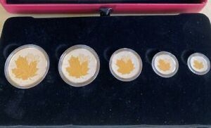 2014 PURE SILVER FRACTIONAL SET - THE MAPLE LEAF GOLD PLATED