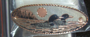 """COMMON LOON Copper Large Hair Clip Barrette NEW 3 3/4"""" NO POLISHING"""