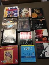 HUGE LOT OF 49 Audiobook CD lot various authors wholesale. Free shipping (lot 7)