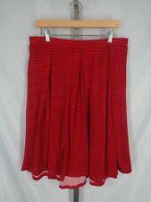 Lularoe Red Madison Skirt Size 2XL Pockets Pleated