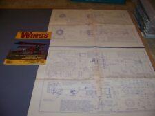 VINTAGE..CURTISS F6C-4 HAWK..4-VIEWS/DETAILS/PANEL LINES (HUGE)..RARE! (80P)