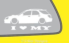 2x LOVE LOW Subaru impreza 2nd Gen WRX STi facelift Wagon silhouette sticker 70