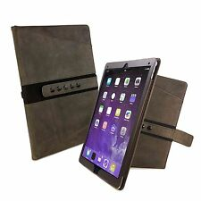 "Tuff-Luv Tri-Axis Western Leather Case Cover for Apple iPad Pro 12.9"" - Brown"