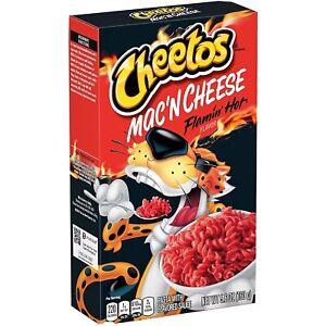 Cheetos Mac 'n Cheese Flamin' Hot Flavor Box Mac and Cheese Spicy Macaroni 5.6oz