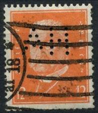 """Germania 1928-32 SG # 431, 12pF pres. Von Hindenburg wmk mesh PERFIN """"ah"""" #A 99822"""