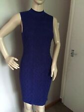 KAREN MILLEN BLUE BODYCON SIZE LARGE DRESS BRAND NEW WITH TAGS