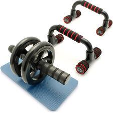 Barres Push Up Poignée de Pompe & Roue Abdominale Ab Wheel pour Fitness Exercice