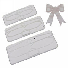 3PCS Plastic Fondant Large Bows Mold For Cake Decoration Plunger Cookie Cutter