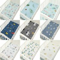 100% Cotton Percale Fitted Sheet Bed Sheet Fitted Crib Sheet Soft Baby Bed Cover