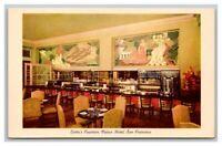 Postcard Lotta's Fountain, Palace Hotel, San Francisco CA California Unposted