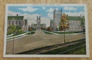 Vintage Boston College Postcard - 1933