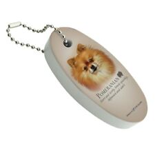 Pomeranian Dog Breed Floating Foam Keychain Fishing Boat Buoy Key Float