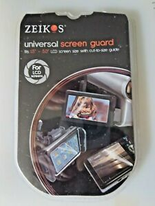 Zeikos LCD Universal Screen Protector Guard For Cameras  ~ 1 single in package