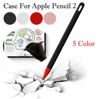 Elastic Silicone Sleeve Protective Grip Skin & Pen Tip Cover For Apple Pencil 2