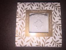 """Margaret Furlong 1999 3"""" Flowers Porcelain Bisque Oval Box Trinket"""