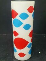 Vintage MCM Original 1960s Dairy Queen Glass Tom Collins Frosted Tumbler MOD