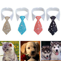 Pet Dog Bow Tie Collar Adjustable Striped Necktie Party Wedding Grooming S/L