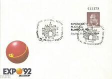 Sobre Entero Postal Edifil # 6 (o) Rumbo al 92 Sevilla LA CARTUJA