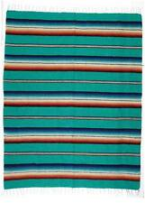 New Rio Bravo Blanket Southwest Serape Style Medium Weight! Mexican  green