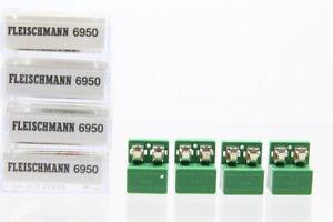 H0 N Fleischmann 4x 6950 Streckengleichrichter Gleichrichter Konvolut +OVP/J51